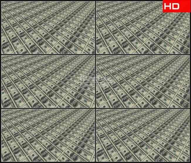 BG0177-印刷货币美元高清LED视频背景素材
