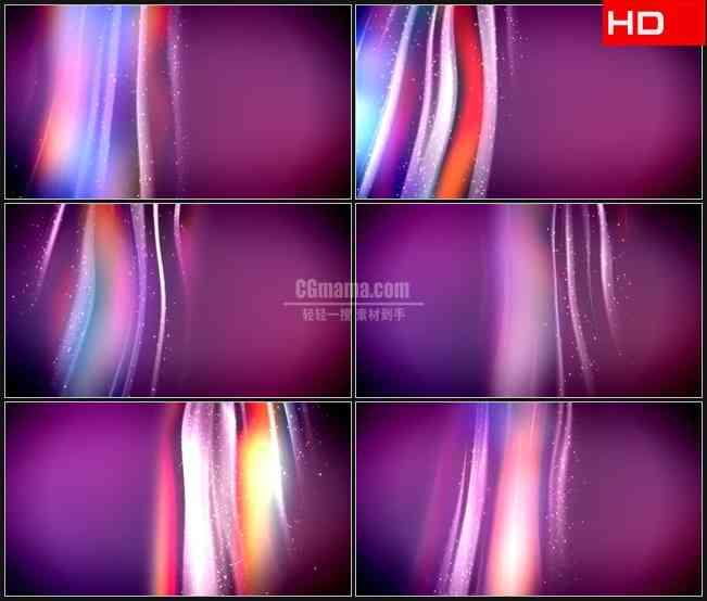 BG0178-彩虹紫色橙色彩色竖条纹光束粒子动态背景高清LED视频背景素材