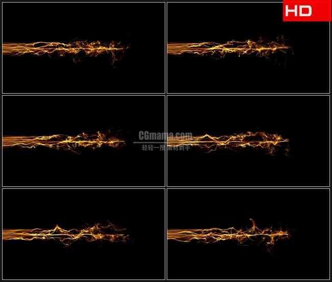 BG0186-炙热火焰金色粒子飘动高清LED视频背景素材