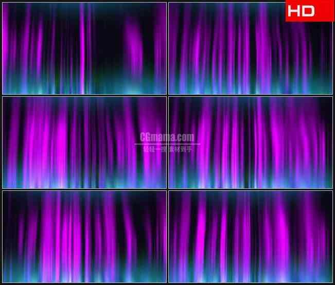 BG0188-摘要北极光效应紫色蓝色竖条纹光束动态背景高清LED视频背景素材