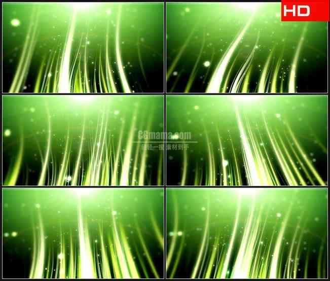 bg0193-绿色光束摆动颗粒粒子萤火高清led视频背景素材