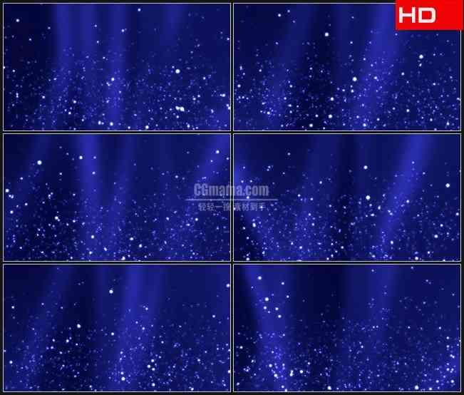 BG0199-靛蓝背景白色泡沫颗粒粒子升起高清LED视频背景素材