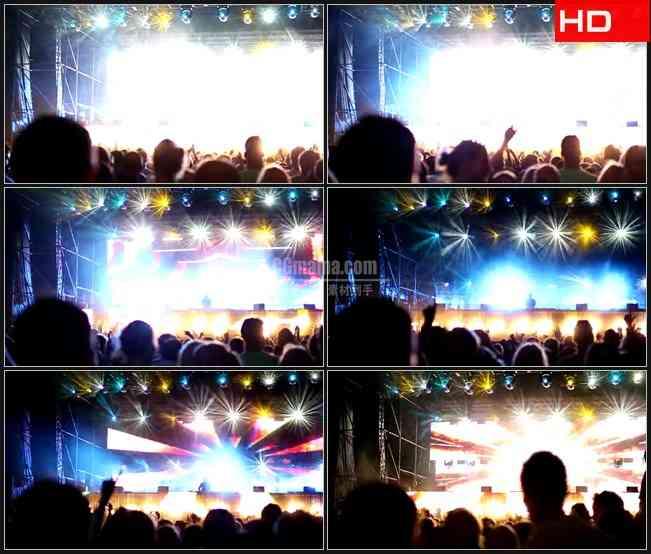 BG0202-闪烁的灯光秀DJ 演唱会欢呼高清LED视频背景素材