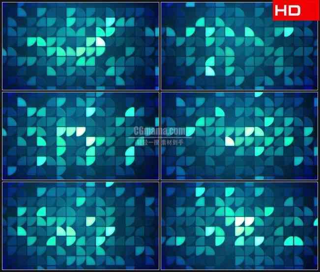 BG0205-扇形蓝色亮片闪烁马赛克动态背景高清LED视频背景素材
