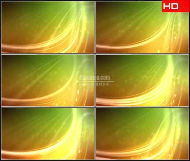 BG0210-黄绿色光芒飞舞粒子动态背景摘要高清LED视频背景素材