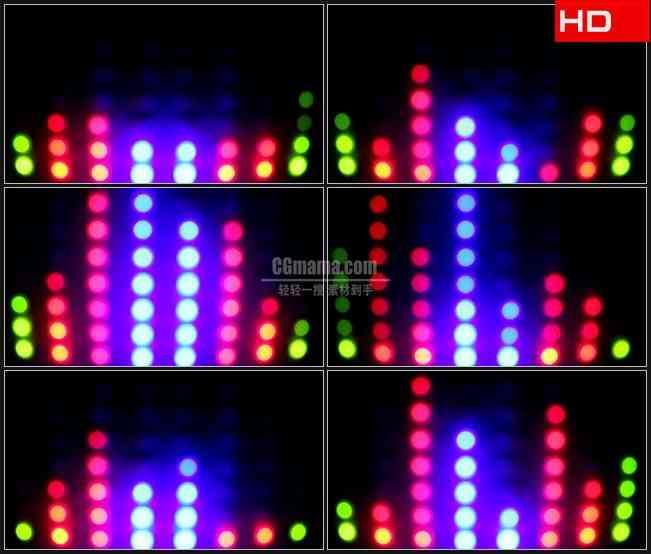 BG0212-圆点霓虹闪烁变换高清LED视频背景素材