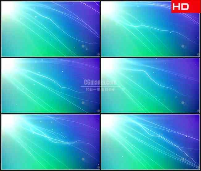 BG0220-蓝色绿色紫色发丝电光飘动高清LED视频背景素材