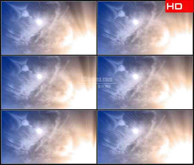 BG0221-炽热温暖天空光线高清LED视频背景素材