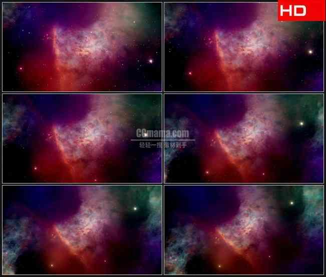 BG0227-紫色红色太空宇宙星空高清LED视频背景素材