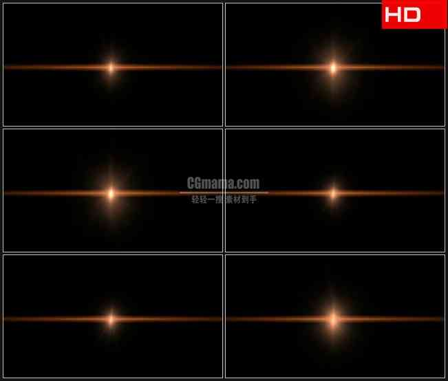 BG0235-透明通道橙色星光循环闪光高清LED视频背景素材