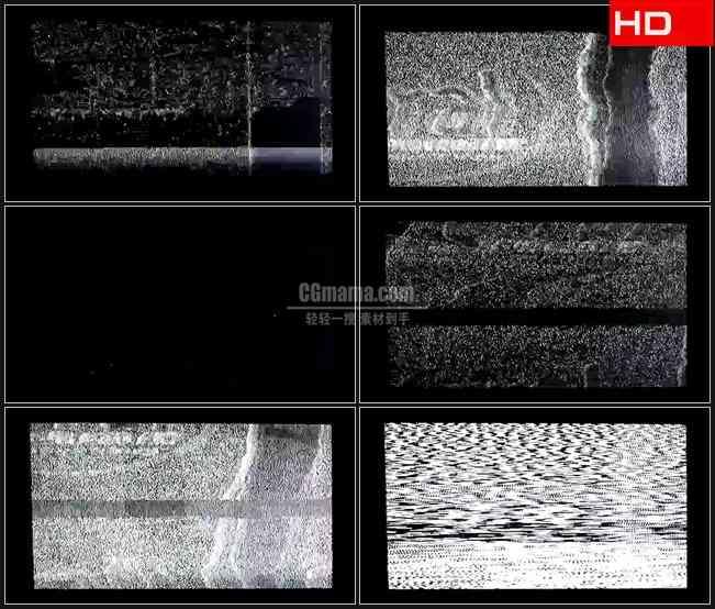 BG0236-闪烁的电视屏幕干扰噪波高清LED视频背景素材
