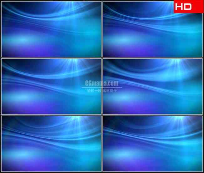BG0250-蓝色色调光线变化动态背景摘要高清LED视频背景素材