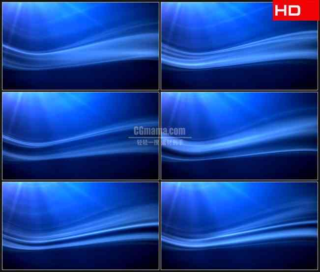 BG0265-移动蓝色光条动态背景摘要高清LED视频背景素材