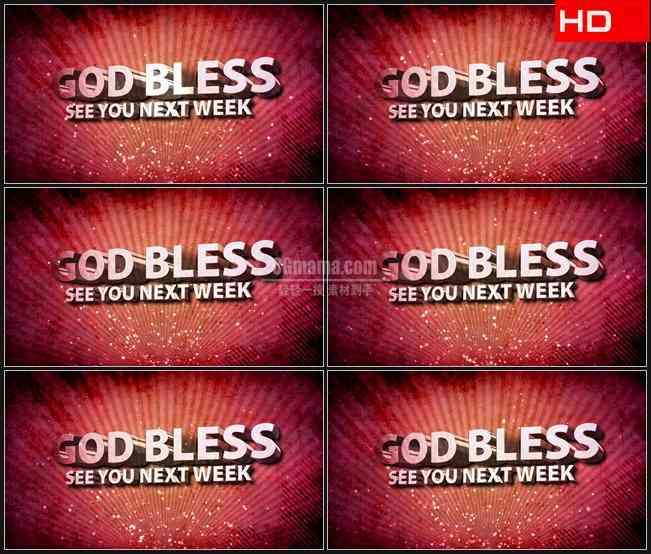 BG0275-上帝保佑文本红色光芒背景高清LED视频背景素材