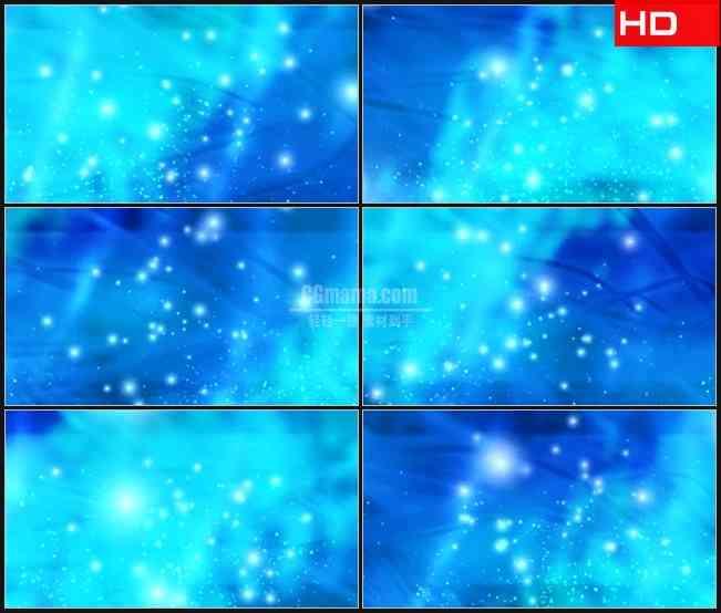 BG0277-淡蓝色萤火粒子光斑飞舞动态背景高清LED视频背景素材