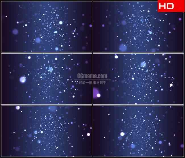 BG0284-粒子隧道蓝色动态背景高清LED视频背景素材