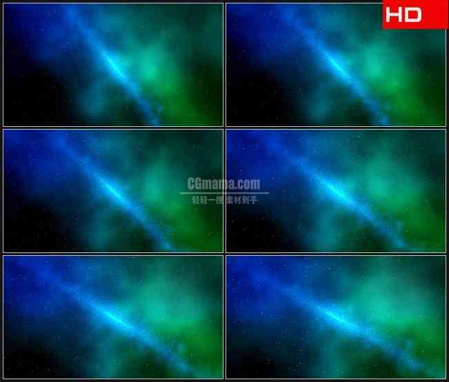 BG0289-蓝色绿色宇宙星空太空唯美背景高清LED视频背景素材