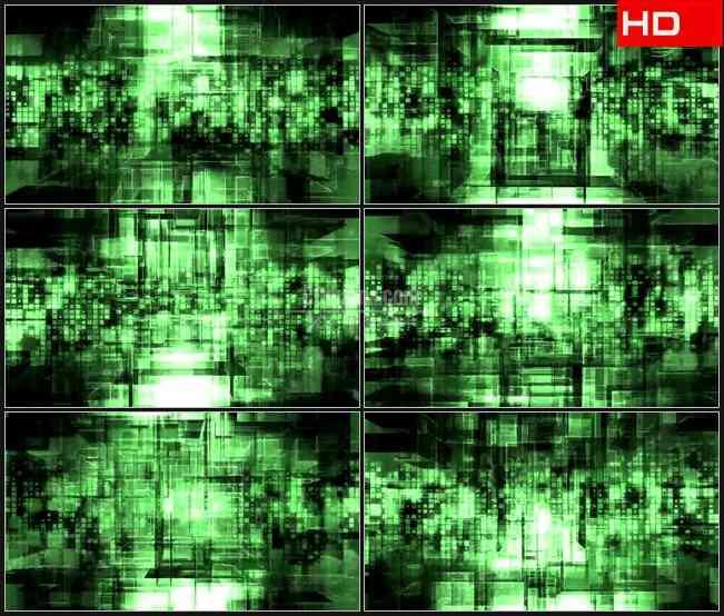 半透明水晶方块叠加运动动态背景摘要数字科技高清led视频背景素材