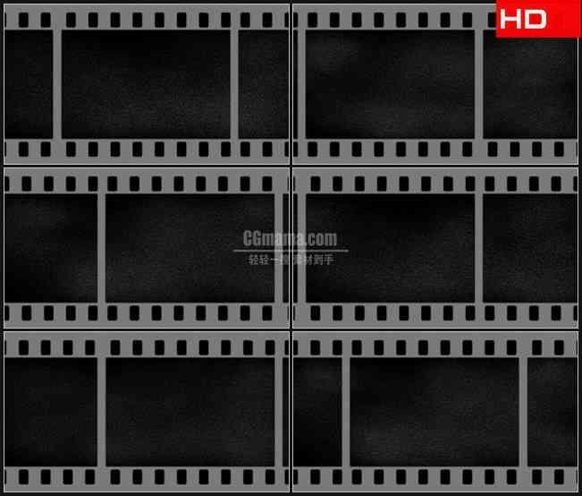 BG0293-电影胶片滚动展示提示板摘要高清LED视频背景素材