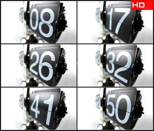 BG0298-浅焦点秒计数器高清LED视频背景素材
