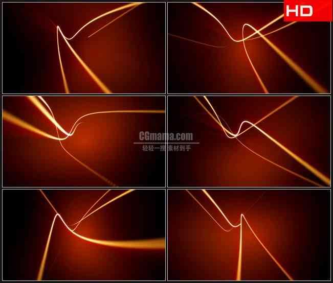 BG0299-橙色电波光线动态背景高清LED视频背景素材