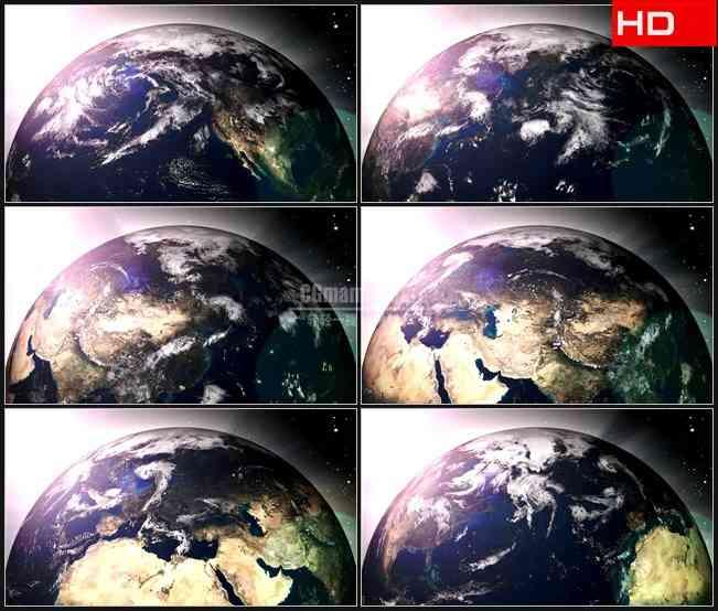 BG0306-地球表面转动特写三维动画宇宙太空高清LED视频背景素材