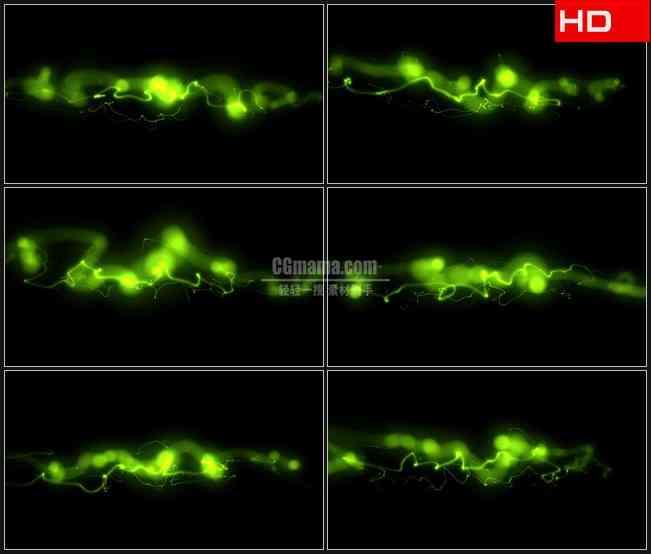 BG0310-摘要荧光绿色光影浮动动态背景高清LED视频背景素材