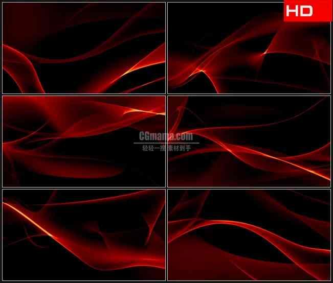 BG0312-摘要红透明旋转光影动态背景高清LED视频背景素材