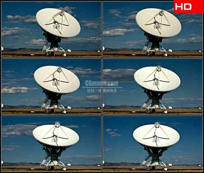 BG0314-碟形天线间隔卫星信号接收发射器高清LED视频背景素材
