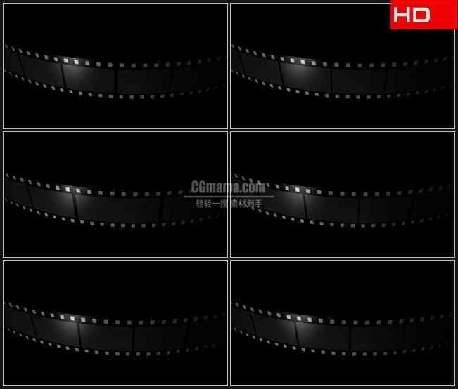 BG0317-滚动薄膜带透明通道电影胶片转动高清LED视频背景素材