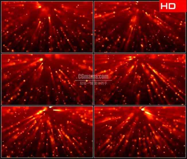 BG0325-红色粒子光线光芒下落动态背景高清LED视频背景素材