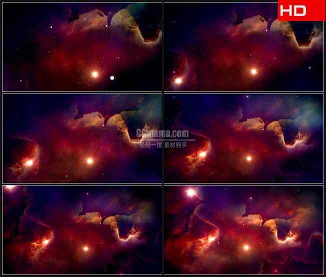BG0331-紫色红色橙色梦幻星空启明星高清LED视频背景素材