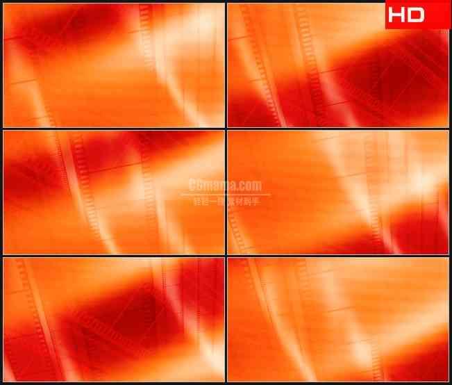 BG0348-红色橙色电影胶片交叉滚动动态背景高清LED视频背景素材