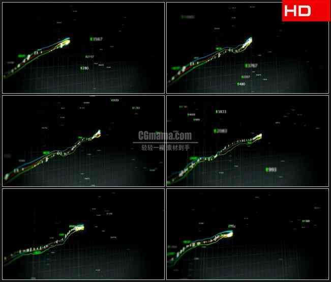 BG0349-不断增长的股票指数高清LED视频背景素材