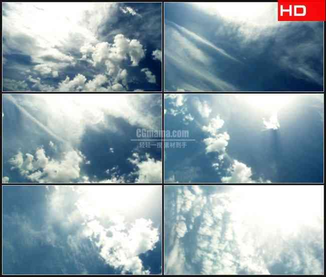 BG0350-蓝天白云流动天空高清LED视频背景素材
