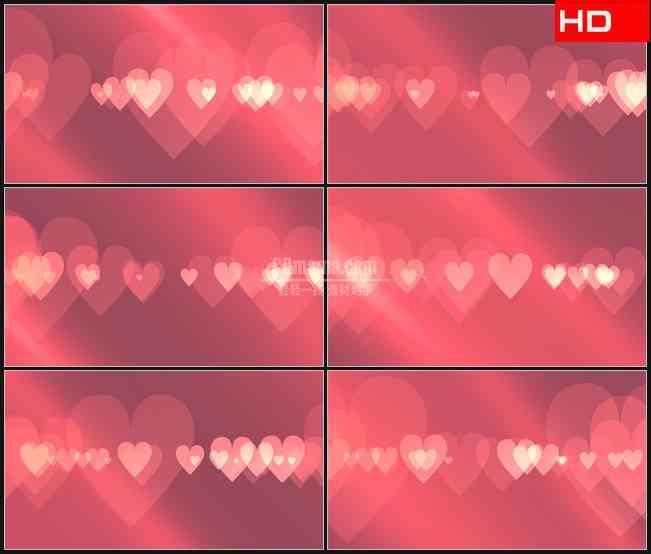 BG0354-粉红色爱心叠加浪漫背景板高清LED视频背景素材