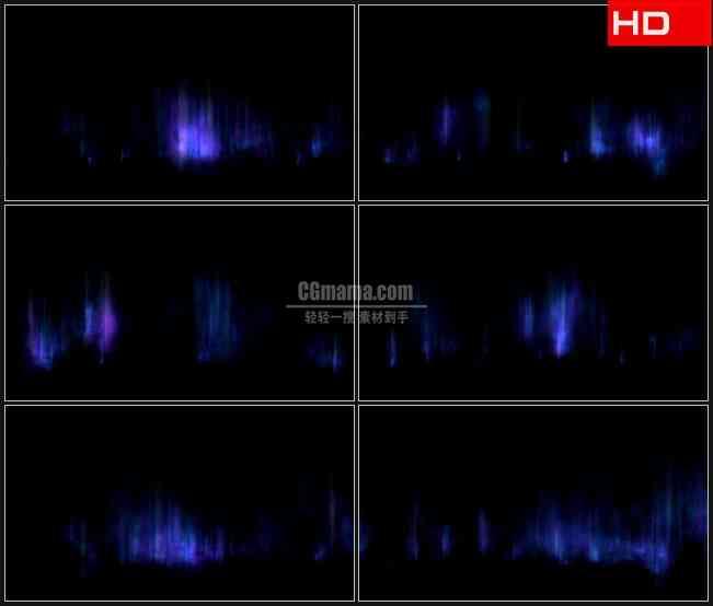 BG0356-绛紫色极光变换背景高清LED视频背景素材