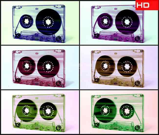 BG0368-透明磁带播放磁带转动高清LED视频背景素材