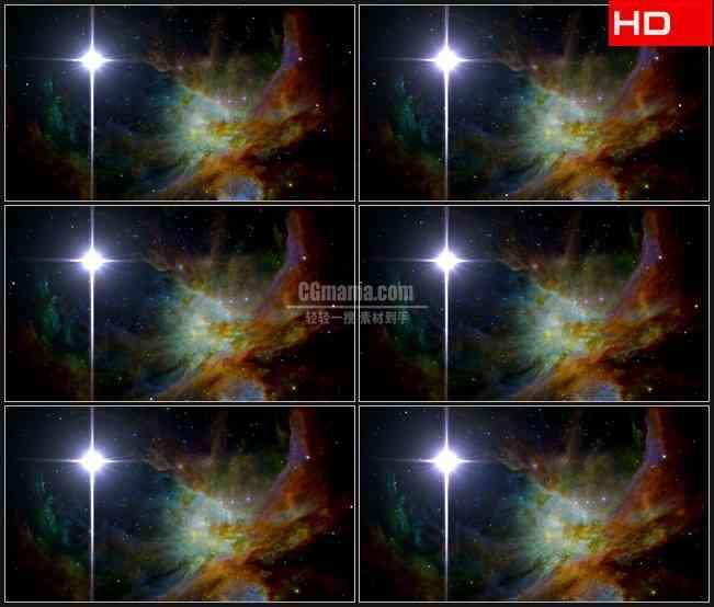 BG0369-北极星星系闪烁太空高清LED视频背景素材