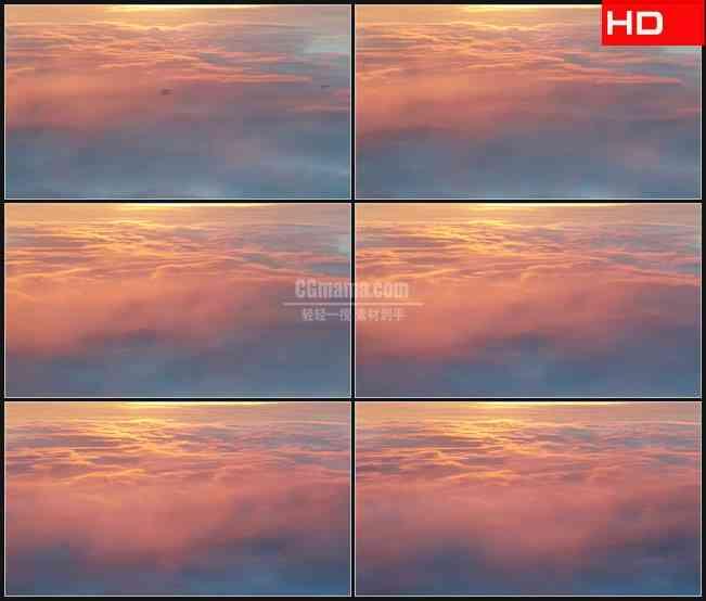 BG0403-粉色云层之上高清LED视频背景素材