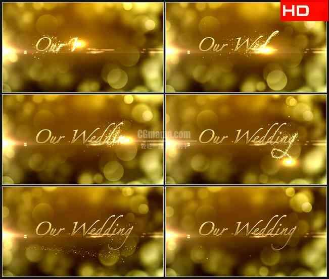 BG0412-金色婚礼灯光光晕浪漫公告高清LED视频背景素材