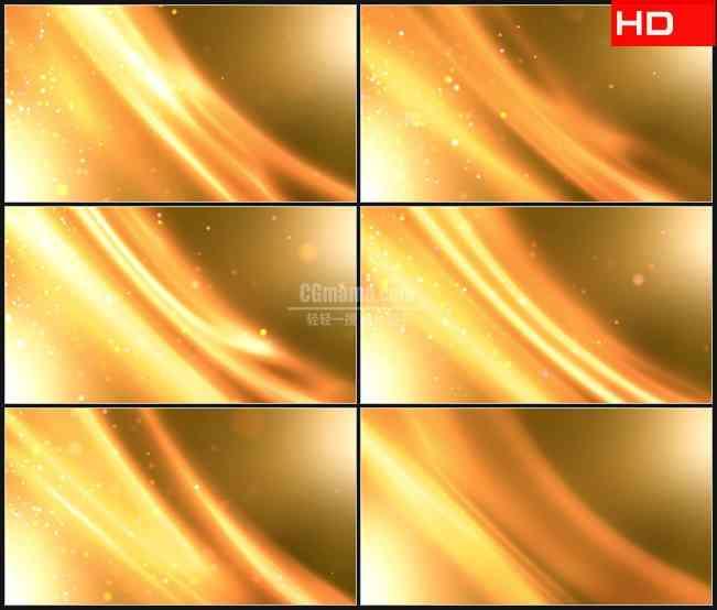 BG0415-黄线和粒子运动的动态背景高清LED视频背景素材