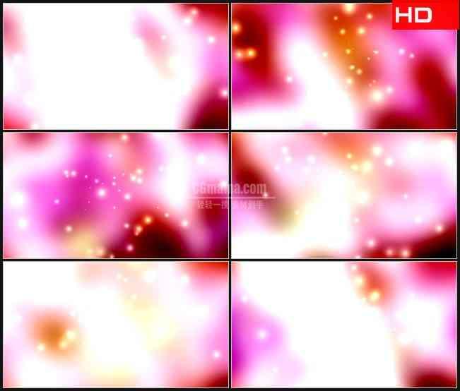 BG0423-红色粉红色和橙色背景的火花高清LED视频背景素材