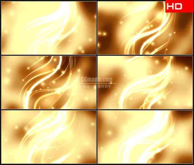BG0429-金色螺旋辉光粒子光圈动态背景高清LED视频背景素材