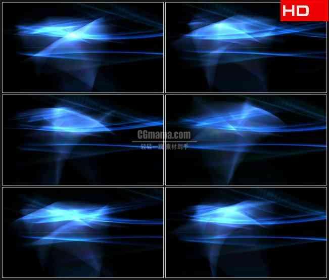 BG0430-蓝色光纹透明通道叠加高清LED视频背景素材
