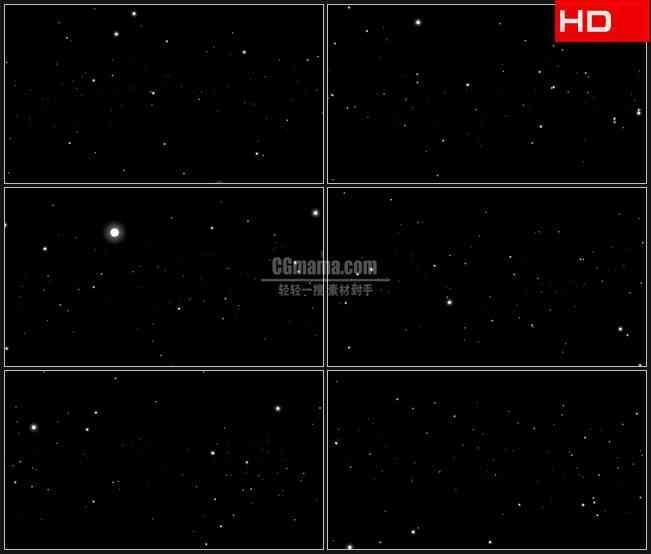 BG0434-深蓝天空星空粒子高清LED视频背景素材