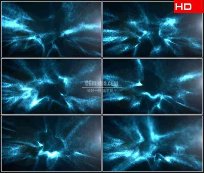BG0436-黑色蓝色光晕水波动态背景高清LED视频背景素材