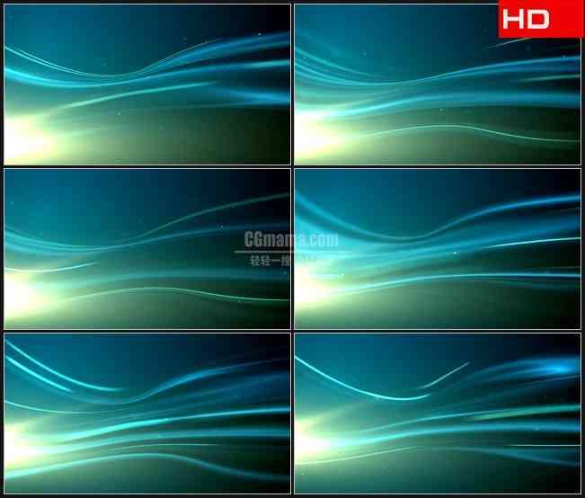 BG0453-蓝色流动光条光斑动态背景高清LED视频背景素材