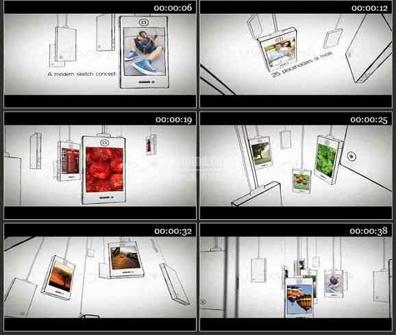AE0928-手绘手机屏幕 图文展示
