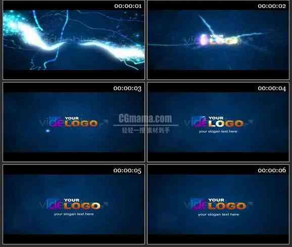 AE0932-闪电 LOGO展示
